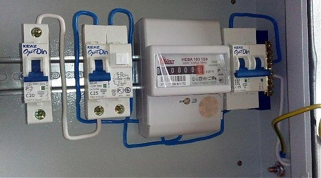 Установка электросчетчиков